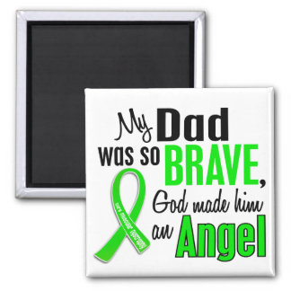 Angel 1 Muscular Dystrophy Dad 2 Inch Square Magnet