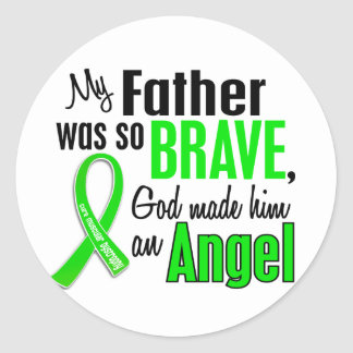 Angel 1 Muscular Dystrophy Father Round Stickers