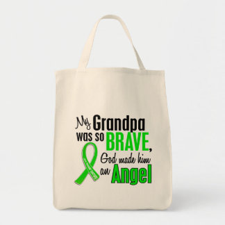 Angel 1 Muscular Dystrophy Grandpa Grocery Tote Bag