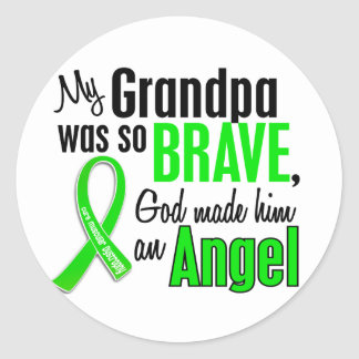 Angel 1 Muscular Dystrophy Grandpa Round Stickers