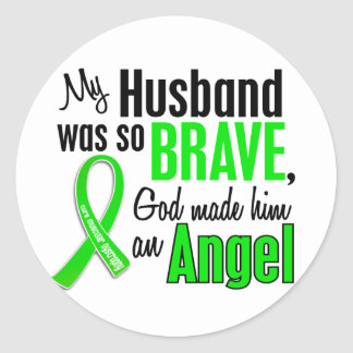 Angel 1 Muscular Dystrophy Husband Round Stickers