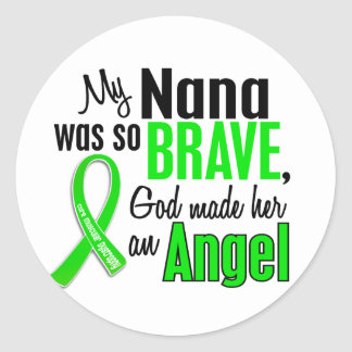 Angel 1 Muscular Dystrophy Nana Round Stickers