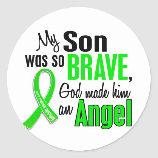 Angel 1 Muscular Dystrophy Son Classic Round Sticker