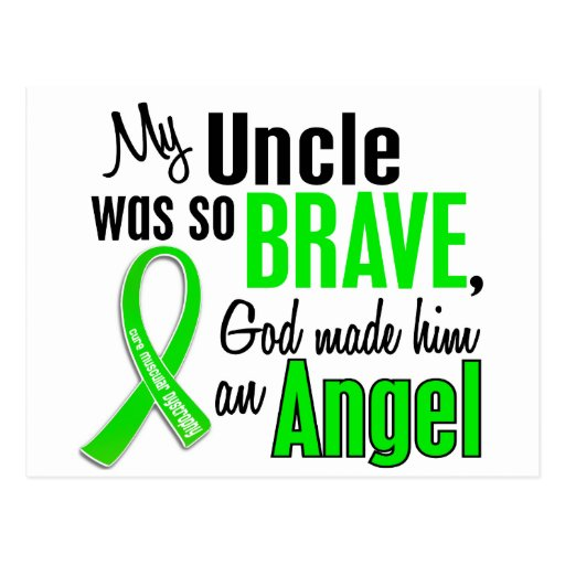 Angel 1 Muscular Dystrophy Uncle Postcard