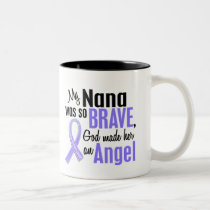 Angel 1 Nana Stomach Cancer Two-Tone Coffee Mug