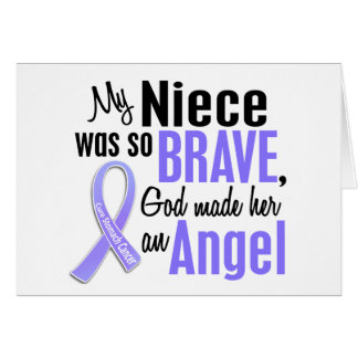 Angel 1 Niece Stomach Cancer Greeting Card