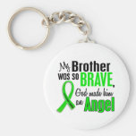 Angel 1 Non-Hodgkins Lymphoma Brother Basic Round Button Keychain