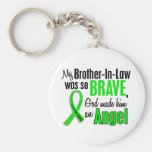 Angel 1 Non-Hodgkins Lymphoma Brother-In-Law Basic Round Button Keychain