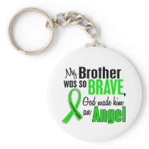 Angel 1 Non-Hodgkins Lymphoma Brother Keychain