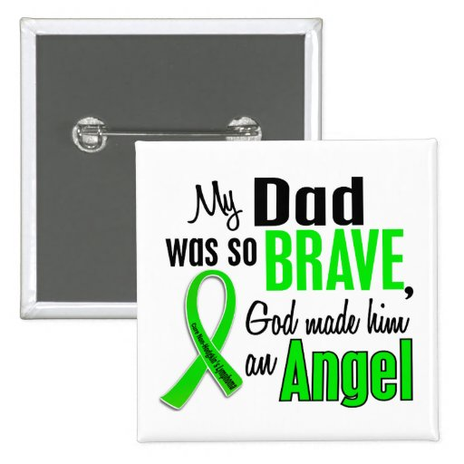 Angel 1 Non-Hodgkin's Lymphoma Dad Buttons