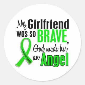 Angel 1 Non-Hodgkin's Lymphoma Girlfriend Classic Round Sticker