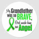 Angel 1 Non-Hodgkin's Lymphoma Grandfather Round Stickers