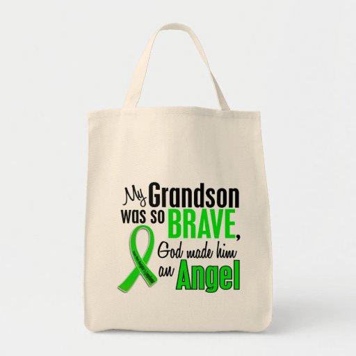 Angel 1 Non-Hodgkin's Lymphoma Grandson Tote Bags