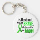 Angel 1 Non-Hodgkin's Lymphoma Husband Basic Round Button Keychain