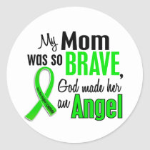 Angel 1 Non-Hodgkins Lymphoma Mom Classic Round Sticker
