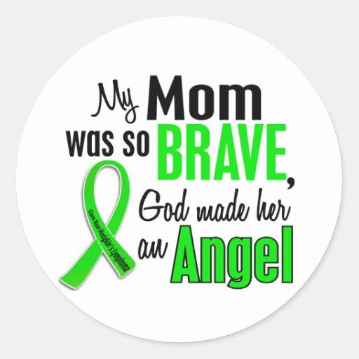 Angel 1 Non-Hodgkins Lymphoma Mom Round Sticker