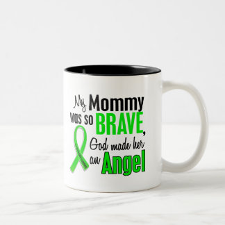Angel 1 Non-Hodgkin's Lymphoma Mommy Two-Tone Coffee Mug