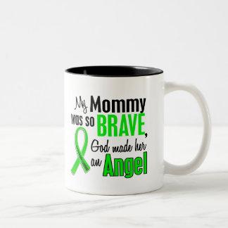 Angel 1 Non-Hodgkin's Lymphoma Mommy Two-Tone Coffee Mug