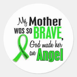 Angel 1 Non-Hodgkin's Lymphoma Mother Classic Round Sticker