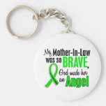 Angel 1 Non-Hodgkins Lymphoma Mother-In-Law Basic Round Button Keychain