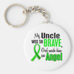 Angel 1 Non-Hodgkin's Lymphoma Uncle Basic Round Button Keychain