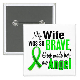 Angel 1 Non-Hodgkin's Lymphoma Wife 2 Inch Square Button