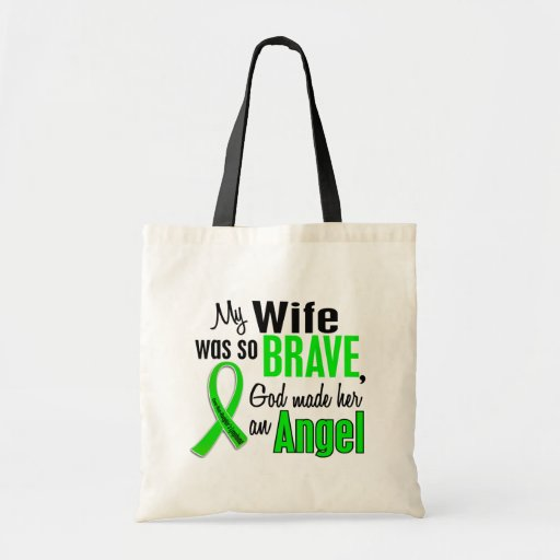 Angel 1 Non-Hodgkin's Lymphoma Wife Canvas Bags