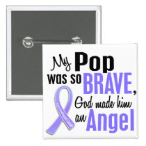 Angel 1 Pop Esophageal Cancer Pinback Button