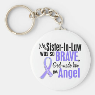 Angel 1 Sister-In-Law Esophageal Cancer Keychain