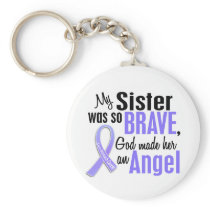 Angel 1 Sister Stomach Cancer Keychain