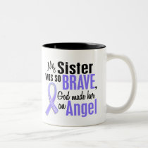Angel 1 Sister Stomach Cancer Two-Tone Coffee Mug