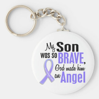 Angel 1 Son Esophageal Cancer Keychain
