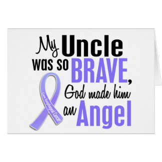 Angel 1 Uncle Esophageal Cancer Greeting Card