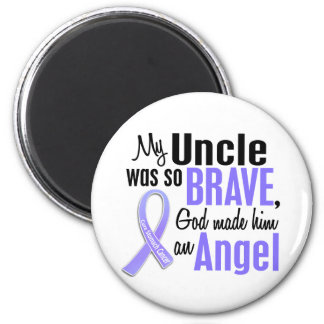 Angel 1 Uncle Stomach Cancer 2 Inch Round Magnet