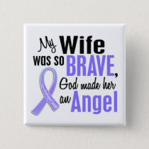 Angel 1 Wife Esophageal Cancer Pinback Button