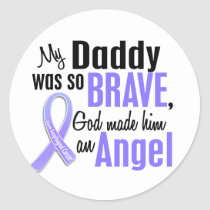 Angel 1Daddy Esophageal Cancer Classic Round Sticker