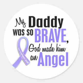Angel 1Daddy Esophageal Cancer Classic Round Sticker