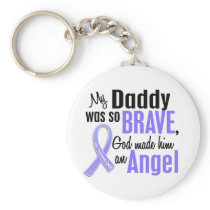 Angel 1Daddy Esophageal Cancer Keychain