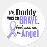 Angel 1Daddy Esophageal Cancer Sticker