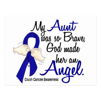 Angel 2 Aunt Colon Cancer Postcard