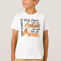 Angel 2 Aunt Leukemia T-Shirt