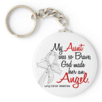 Angel 2 Aunt Lung Cancer Keychain