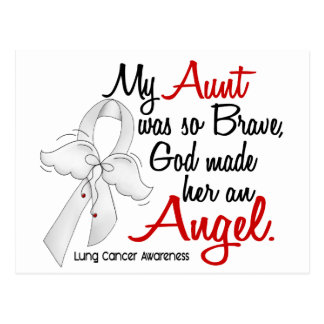 Angel 2 Aunt Lung Cancer Postcard
