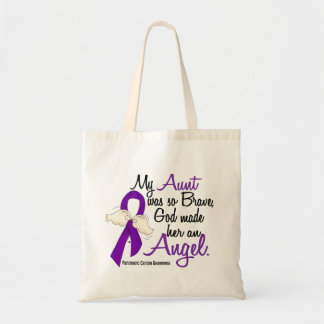 Angel 2 Aunt Pancreatic Cancer Canvas Bags