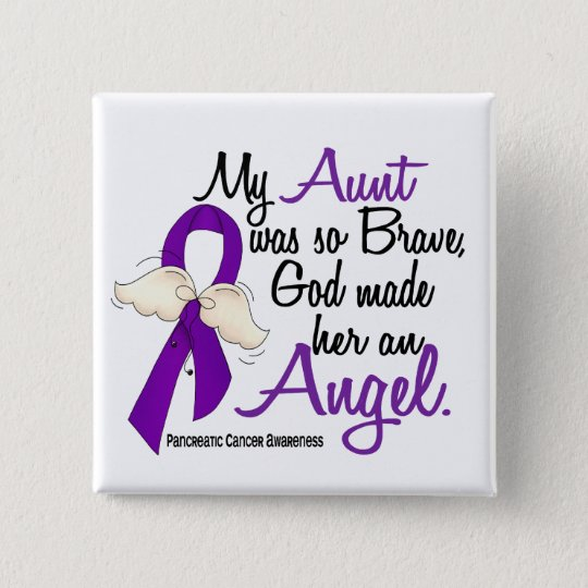 Angel 2 Aunt Pancreatic Cancer Button