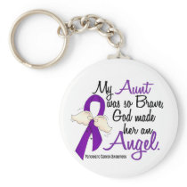 Angel 2 Aunt Pancreatic Cancer Keychain