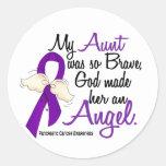 Angel 2 Aunt Pancreatic Cancer Sticker