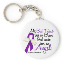 Angel 2 Best Friend (Female) Pancreatic Cancer Keychain