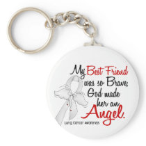 Angel 2 Best Friend Lung Cancer Keychain
