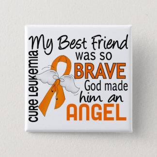 Angel 2 Best Friend (Male) Leukemia Pinback Button